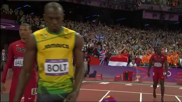 Watch Usain Bolt Wins Olympic 100m Gold | London 2012 Olympic Games GIF on Gfycat. Discover more ioc, london 2012, olympics GIFs on Gfycat