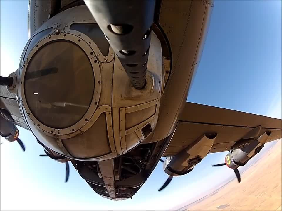 MilitaryGfys, WWIIplanes, aviationgifs, Camera attached to B-24 ball turret .50 BMG (reddit) GIFs