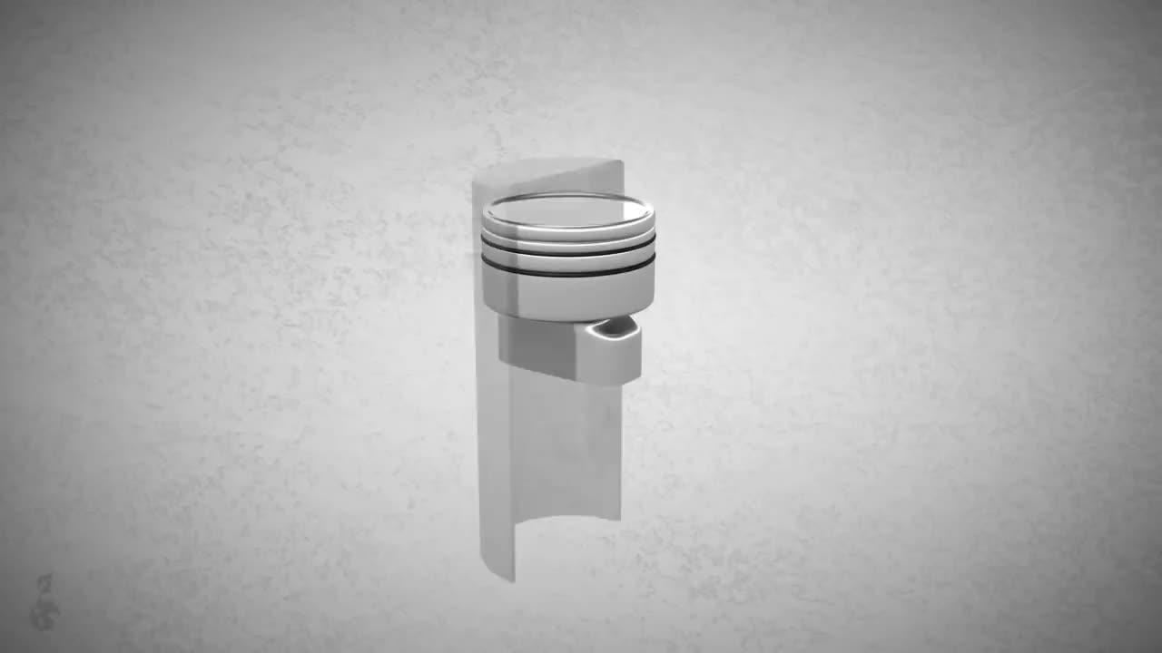 4-takt-motor, Motorrad, arbeitstakt, auslassventil, benzin-luft-gemisch, einlassventil, hubraum, kraftfahrzeug, kurbelwelle, ndkerze, nockenwelle, ottomotor, pkw, pleuelstange, verbrennungsmotor, viertaktmotor, zylinder, Viertaktmotor / 4-Takt-Motor / Ottomotor - Funktion (Animation) GIFs