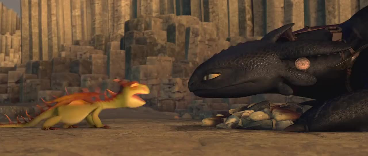 httyd, Toothless owns a little dragon GIFs