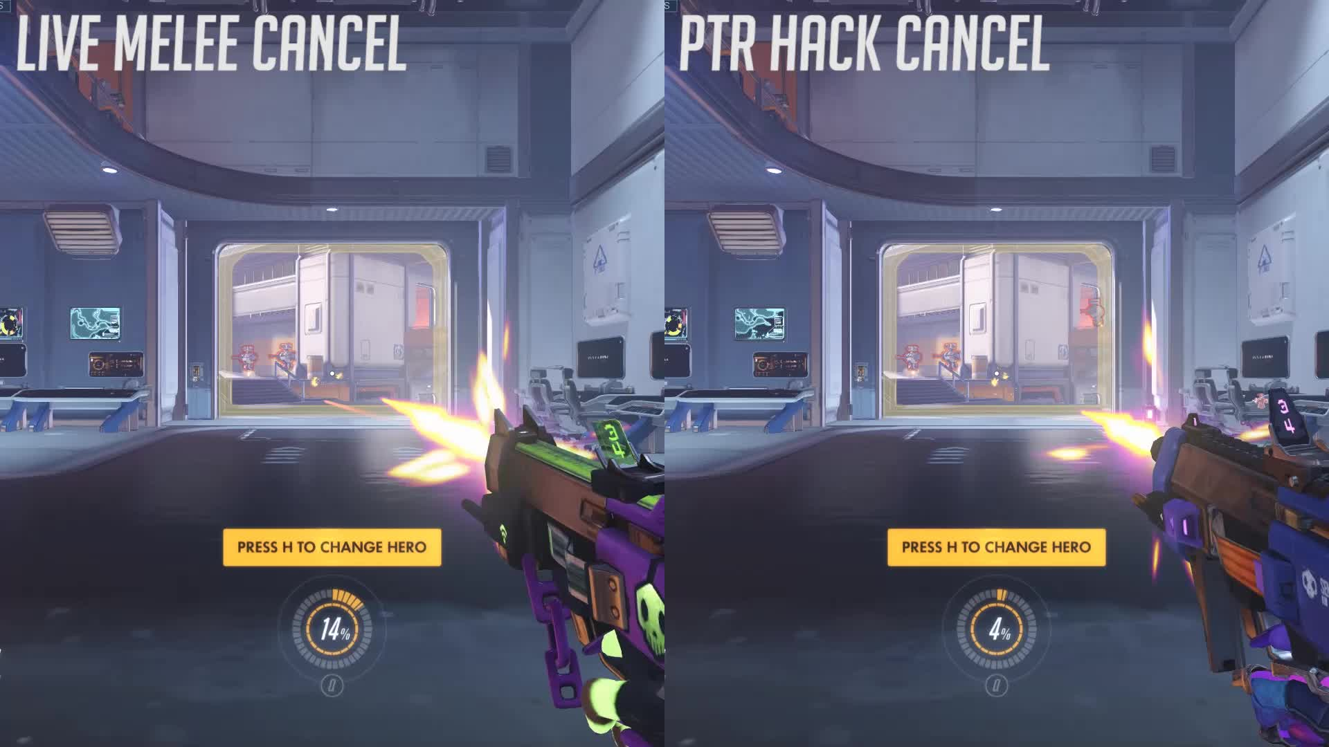 overwatch, Sombra Melee/Hack Reload Animation Cancel GIFs