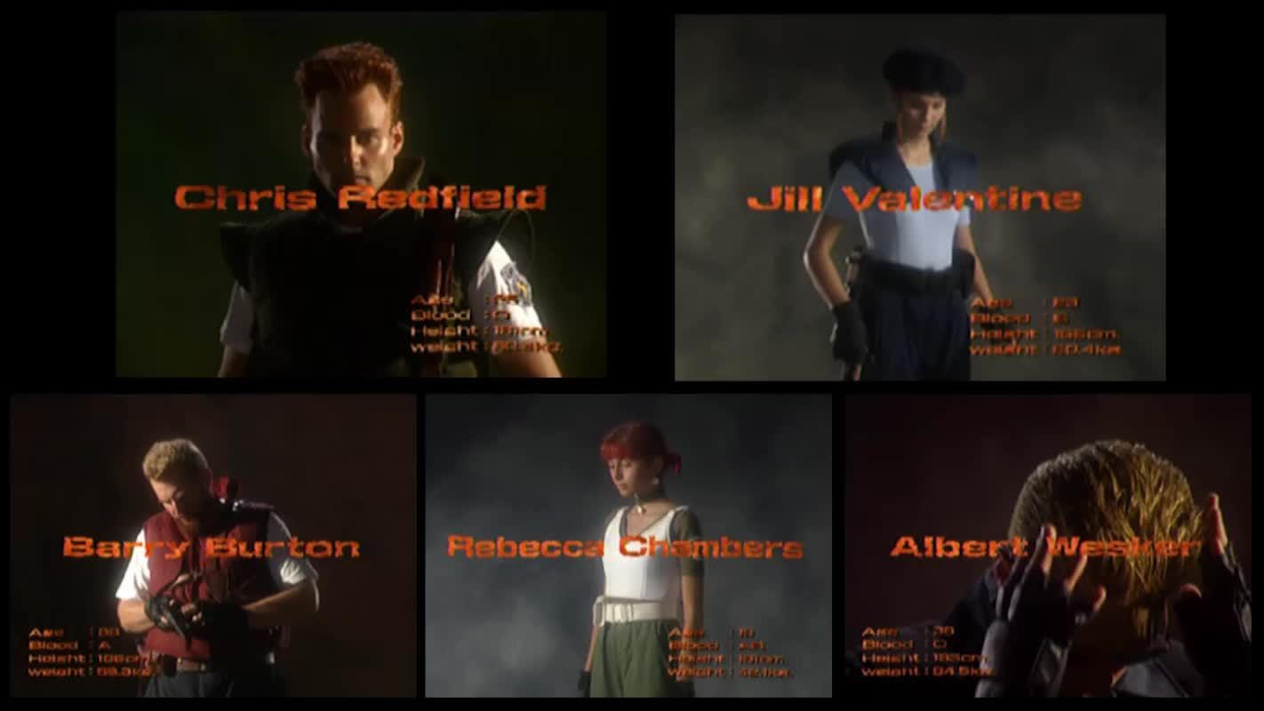 gaminggifs, Resident Evil - Playstation - The Cast GIFs