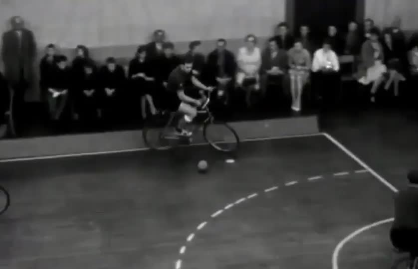 Bicycle Ball World Cup in 1949 GIFs