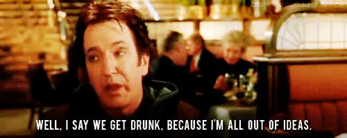 Watch and share Alan Rickman GIFs and Drunk GIFs on Gfycat