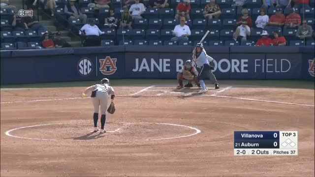 Watch and share NCAA Softball 2019 | Villanova Vs  #21 Auburn  (Feb.22) GIFs on Gfycat
