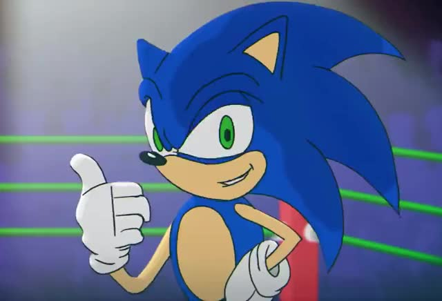 Sonic - Wink yes yeah winner wink win the sure sonic okay ok hedgehog great gotcha good deal cartoon beatbox battles agree absolutely trending curated GIF