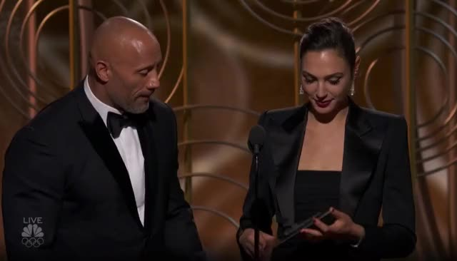Watch this golden globes GIF by GIF Reactions (@visualecho) on Gfycat. Discover more Dwayne Johnson, Gal Gadot, Golden Globes, GoldenGlobes, The Rock GIFs on Gfycat