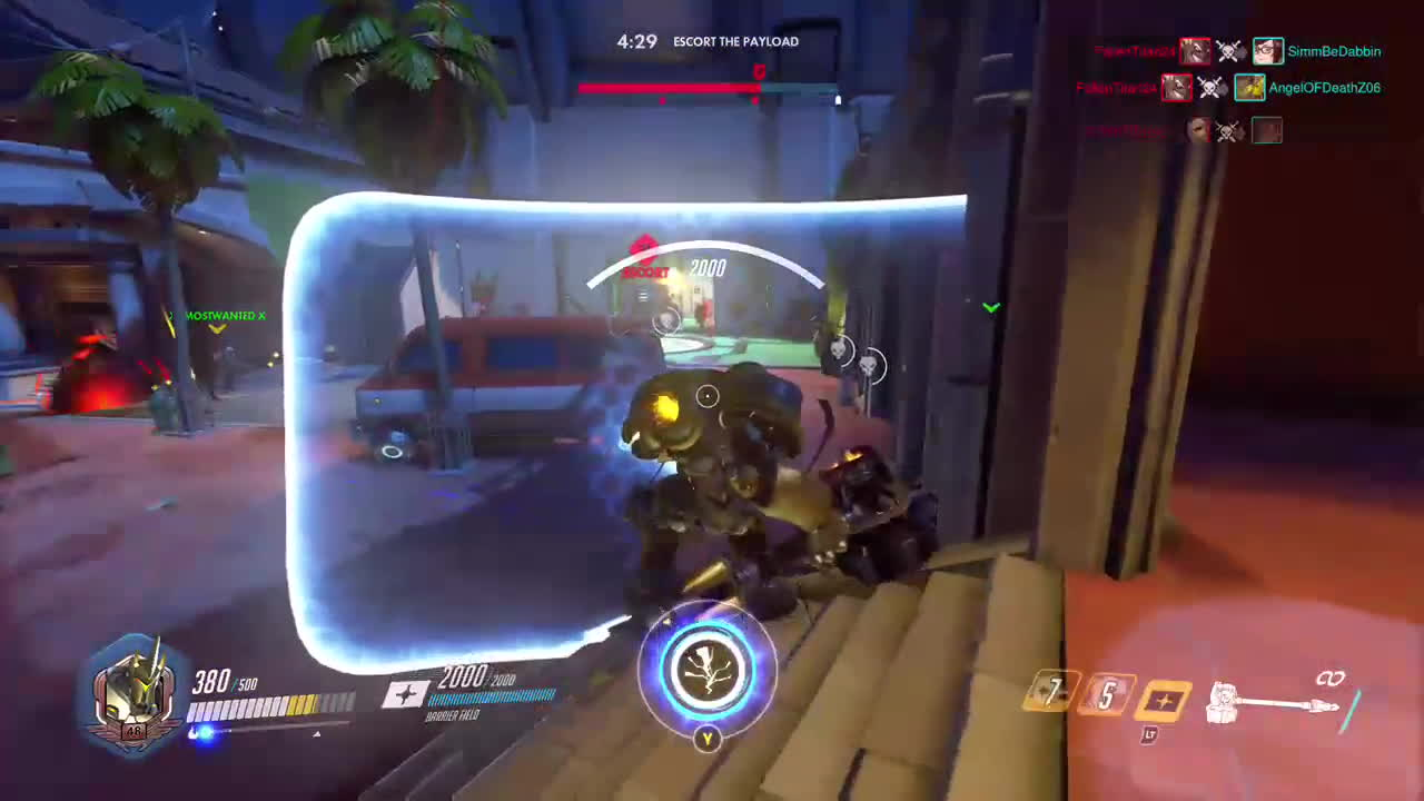 overwatch, owconsole, twitch, Reinhardt used Seismic Toss - Overwatch Best Moments #16 GIFs
