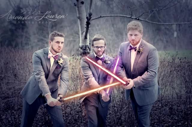 Watch and share Wedding Sabers GIFs on Gfycat