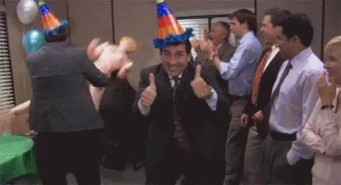 Watch and share Michael Scott GIFs and Party Time GIFs on Gfycat