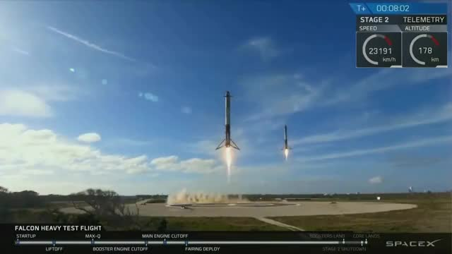 Watch SpaceX Falcon Heavy launch GIF on Gfycat. Discover more Falcon, cbc, launch, news GIFs on Gfycat
