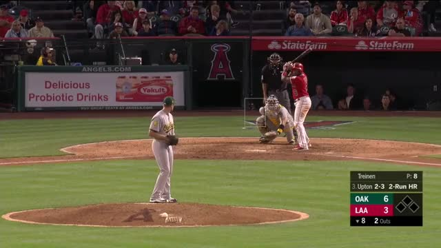 Watch this trending GIF on Gfycat. Discover more Los Angeles Angels, Oakland Athletics, baseball GIFs on Gfycat