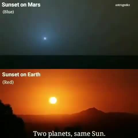 r/sciences, Two worlds, one Sun: Taken at sunset, one from Earth and one from #Mars GIFs