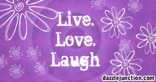 Watch and share Live Love Laugh Purple Glitter Inspirational Quote GIFs on Gfycat