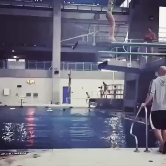 gifsthatendtoosoon, A perfect backflip belly flop into the water! GIFs