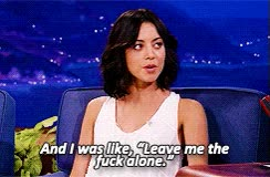 Watch and share Leave Me Alone GIFs and Aubrey Plaza GIFs on Gfycat