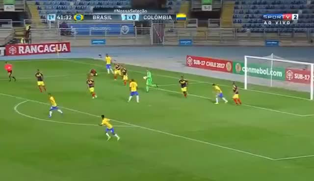 Watch Vinícius Júnior vs Colômbia HD 1080i (16/03/2017) GIF on Gfycat. Discover more related GIFs on Gfycat