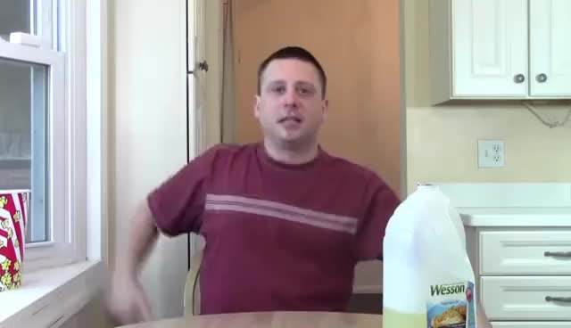 Watch and share 1 Gallon Of Wesson Vegetable Oil ***Vomit Alert*** GIFs on Gfycat