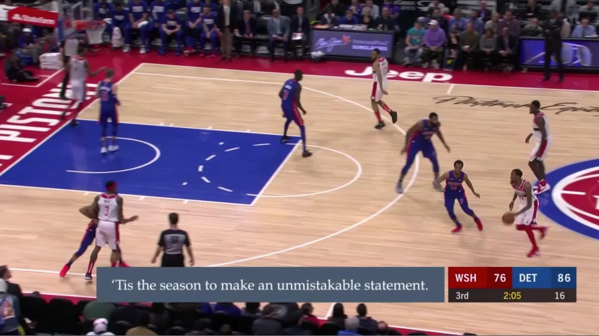 Detroit Pistons, NBA, Thon Maker, basketball, Thon Maker defence inside leave Jabari GIFs