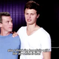 Watch ansel elgort GIF on Gfycat. Discover more ansel elgort, baby angel, gifs, interview GIFs on Gfycat