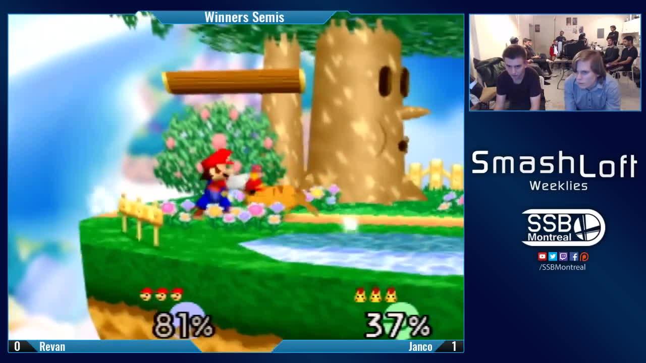 64, smash, super smash bros, SL SSB64 #100 - Revan (Mario) vs Janco (Pikachu) - Winners Semis GIFs