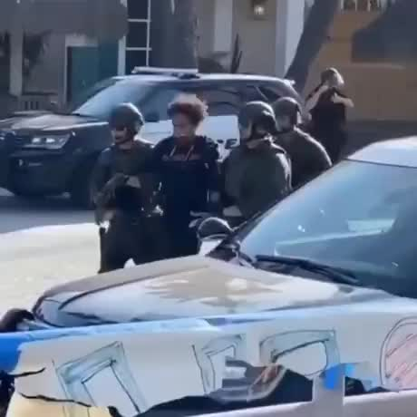 Man Bolts from the police gif