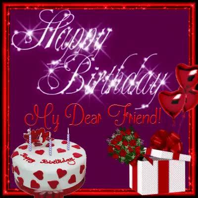 Watch and share Happy Birthday Friend GIFs on Gfycat