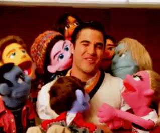 Watch and share Blaine Anderson GIFs and Puppet Master GIFs on Gfycat