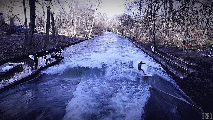 SuperAthleteGifs, superathletegifs, woahdude, Canal surfing in Munich. (reddit) GIFs
