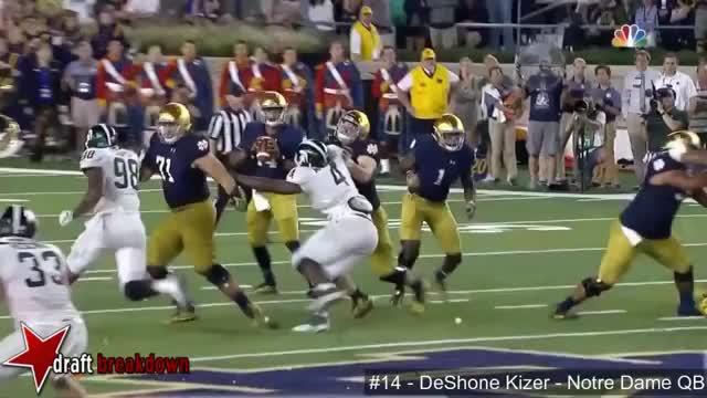 Watch and share DeShone Kizer (Notre Dame QB) Vs Michigan State 2016 GIFs by jonah7073 on Gfycat