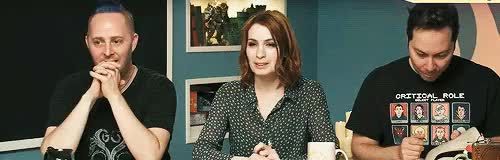 Watch this trending GIF on Gfycat. Discover more 10/10, Critical Role, Felicia Day, Laura Bailey, Mary Elizabeth McGlynn, Matthew Mercer, Orion Acaba, Sam Riegel, Taliesin Jaffe, Trial of the Take, critteredit GIFs on Gfycat