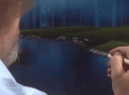 Watch Bob Ross GIF on Gfycat. Discover more art, bobross, painting GIFs on Gfycat