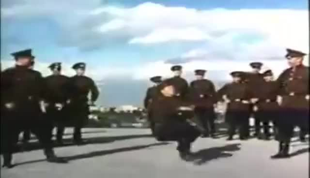 Watch and share Soviet Russian Soldier Jumpstyle/Cossack Dance Is Not A Crime! GIFs on Gfycat