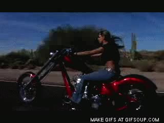 Watch and share Biker Chick GIFs on Gfycat