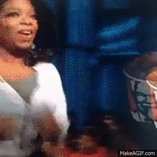Watch and share Oprah Chases KFC Food GIFs on Gfycat