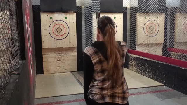Watch and share Axe Throwing GIFs by verowak on Gfycat