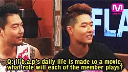Watch youngjae explaining each of member's role if b.a.p's daily l GIF on Gfycat. Discover more DFLA, b.a.p, bap, daehyun, edit, himchan, interview, jongup, sayyesi, yongguk, youngjae, zelo GIFs on Gfycat