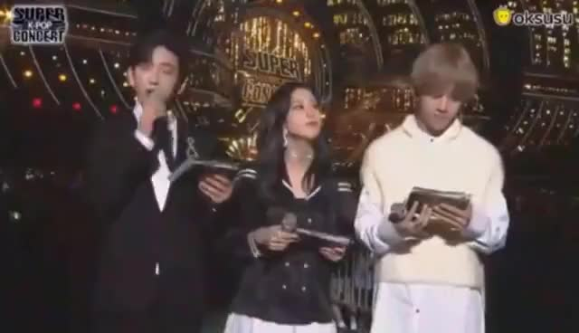 Watch [MC CUT#2] 170924 GOT7 Jinyoung, Blackpink Jisoo , BTS V SBS Inkigayo Super Concert in Daejeon GIF on Gfycat. Discover more related GIFs on Gfycat