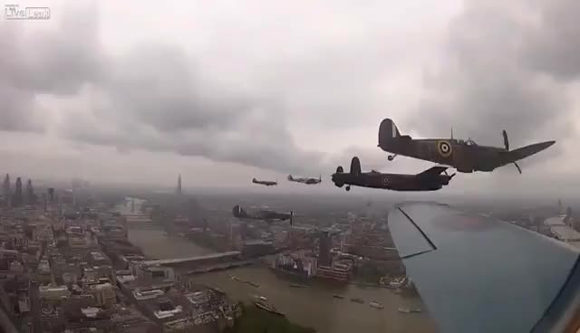 Watch and share Diamond Jubilee Flypast As Seen From The Spitfire - London, UK GIFs on Gfycat