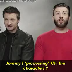 Watch and share Captain America GIFs and Jeremy Renner GIFs on Gfycat