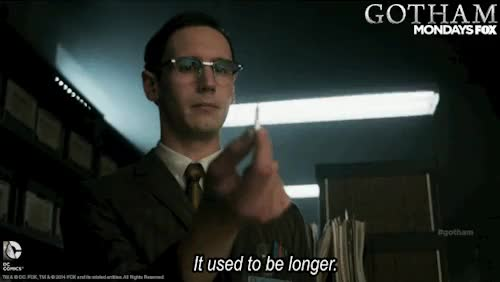 Watch this trending GIF on Gfycat. Discover more dccomics, gcpd, gotham, kristen kringle, lol, nygma, pencil GIFs on Gfycat