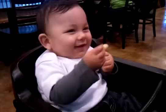 Watch this baby GIF on Gfycat. Discover more aww, awww, baby, cute, cute baby, kid, laughing, little baby, newborn GIFs on Gfycat