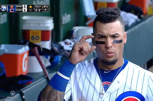 Watch and share Javier Baez In Dugout GIFs by MarcusD on Gfycat