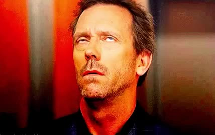 dr, epic, eye, eye roll, house, hugh laurie, mad, roll, seriously, wait, what, Epic eye roll GIFs