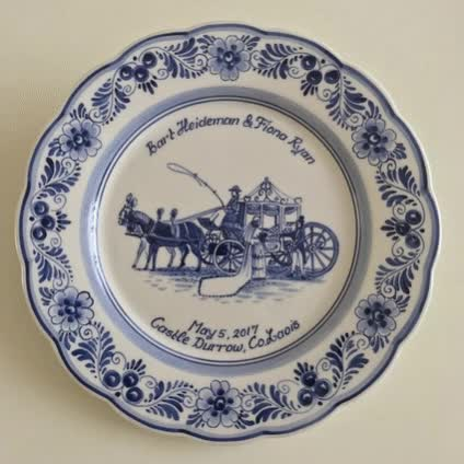 Watch and share Decorative Plates For Wedding GIFs by dutchbirthplates on Gfycat