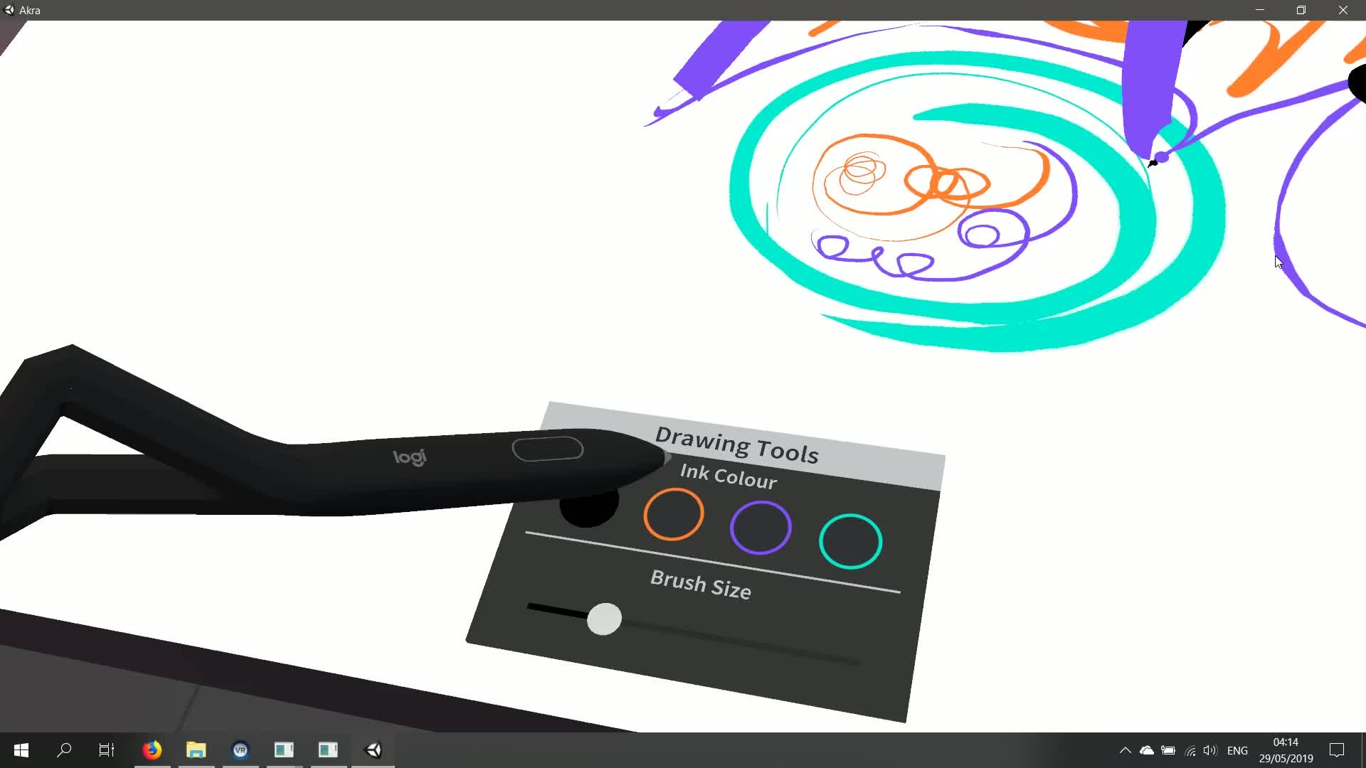 Logitech VR Ink – Testing Handwriting GIFs