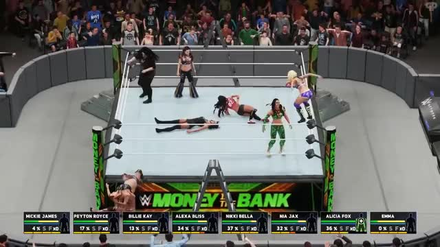 Watch WWE 2K18   Universe Mode - 'MONEY IN THE BANK PPV! (PART 3)   #32 GIF on Gfycat. Discover more 2k18, All Tags, Cesaro, Charlotte, Finisher, Glitch, Jericho, Miz, Nakamura, PS4, RVD, Reigns, diy, jeff, matt, moments, rollins, roode, tlc, undertaker GIFs on Gfycat