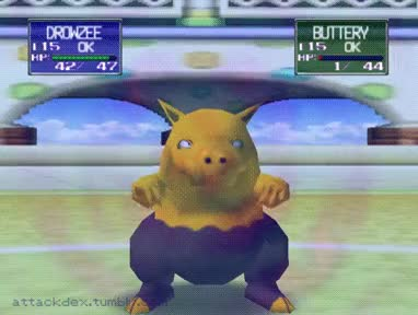 Watch Drowzee's Hypnosis [Pokémon Stadium] GIF on Gfycat. Discover more related GIFs on Gfycat