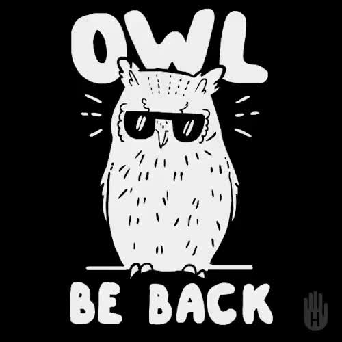 Watch Owl Be Back GIF on Gfycat. Discover more gif, lookhuman, owl be back, owls, psgifercameron, terminator GIFs on Gfycat