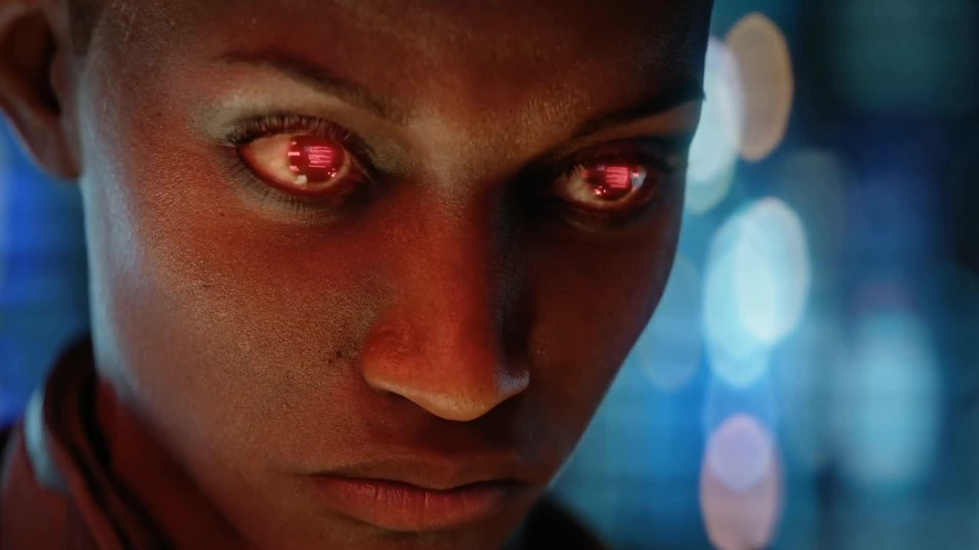 2077, cinematic, cyberpunk, cyberpunk 2077, e3, t-bug, trailer, T-Bug Hacking Eyes | Cyberpunk 2077 GIFs